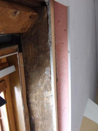 Internal wall insulation being installed